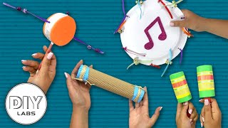 4 MUSICAL INSTRUMENTS Crafts You Can Do Anytime | Fast-n-Easy | DIY Labs
