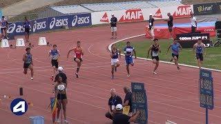 Angers 2019 : Finale 100 m Juniors M (Aymeric Priam en 10''56)