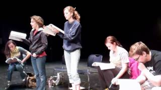 Rehearsal for Spelling Bee @ Byron Civic Theatre