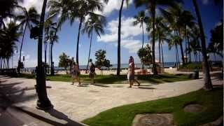 preview picture of video 'Ride along Kalakaua Avenue 1/22/2013 Beachside'