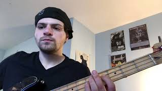 Joni Mitchell blue motel room bass cover