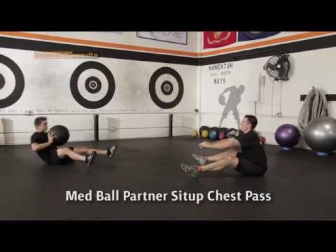 Medicine Ball Exercise - Partner Situp Chest Pass