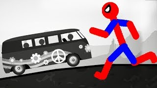 Stickman Destruction 5 Annihilation - Can Spiderman Stop Bus?! Gameplay Part 2