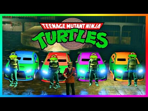 GTA ONLINE NINJA TURTLES FREEMODE SPECIAL - TEENAGE MUTANT NINJA TURTLE VEHICLES, CHALLENGES & MORE!