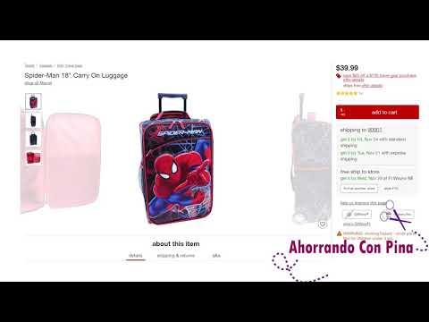 Maletas y mochilas en especial Solo Hoy en Target 11/18/17