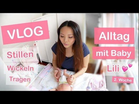 ALLTAG MIT BABY! 2 WOCHEN ALT - STILLEN WICKELN TRAGEN - FAMILIEN VLOG | Mamiseelen