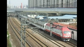 preview picture of video '[China Railway]CRH380BL&CRH2C Train &T132・Z122 中潭路を行くCRH380BL・DF11+25K・CRH2C・SS9G+25T'