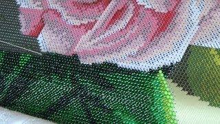 Процесс вышивки бисером на станке + болталка