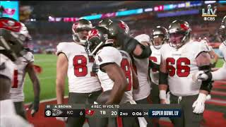 Antonio Brown scores his 1st Super Bowl touchdown