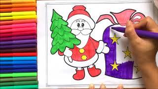 Đồ chơi trẻ em TÔ MÀU ÔNG GIÀ NOEL PHÁT QUÀ GIÁNG SINH - Coloring Santa Clauses (chị Chim Xinh)