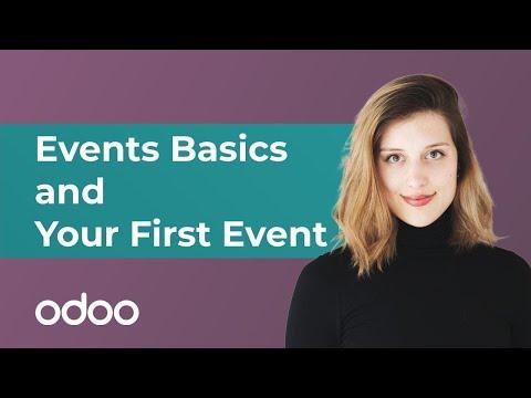 Event-Grundlagen und Ihre erste Veranstaltung | odoo Marketing