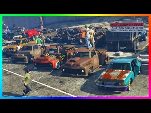 "GTA ONLINE ""LOW LIFE"" NO MONEY SPECIAL - BEST FREE VEHICLES, RARE RUSTY GTA 5 CARS & SECRET SPOTS!"