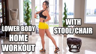 MICHELLE LEWIN: 5 Easy Lower Body Home Workouts With Stool Or Small Chair