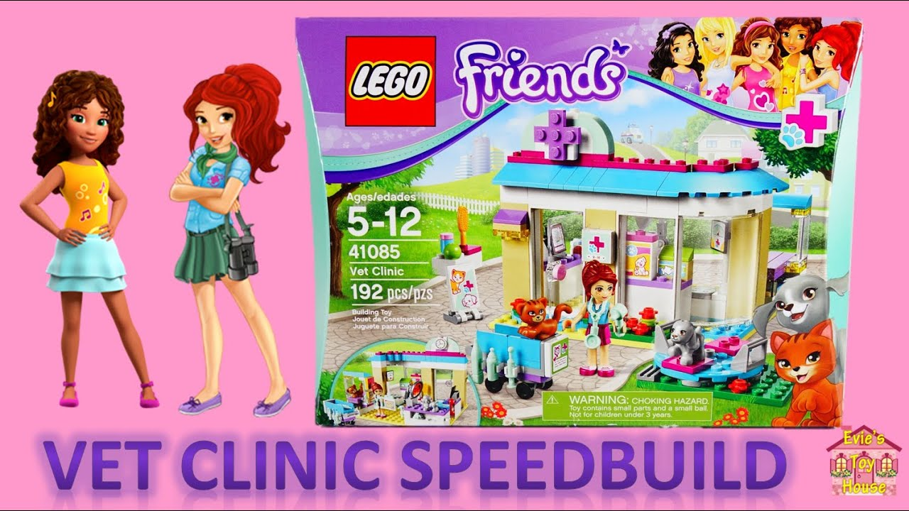 LEGO Friends Vet Clinic with Mia 41085 Speedbuild | Evies Toy House