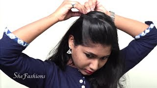 10 Quick & Beautiful self Hair style for ladies // Easy Hair style Tutorials 2018 - Part1