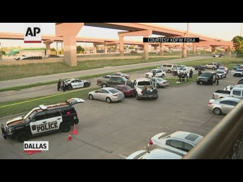A Texas police officer has been arrested on a murder charge after he fatally shot the driver of a pickup truck reported stolen from a Dallas suburb. (June 27)