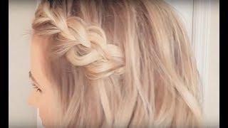 Side Braid Hair Tutorial On Short Hair