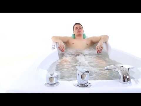 Ванна акриловая с гидромассажем джакузи Triton Цезарь 180х80х46