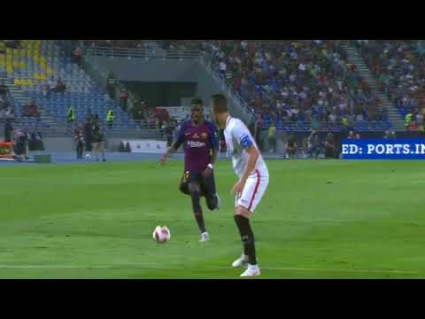 Dembele Goal VS Sevilla 2-1 Spain Super Cup 12/08/2018 HD