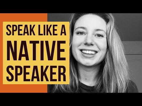 How To Speak English Like A Native Speaker