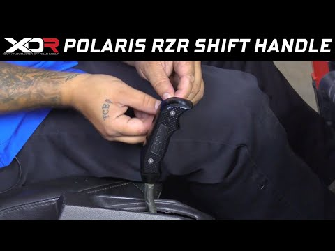 Install: 2008-17 Polaris RZR - B&M Magnum Grip Shift Handle 81089