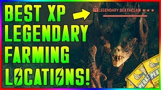 Fallout 76 - 5 FASTEST XP & Legendary Farming Locations! [Low and High Levels] (Level Up Fast guide)