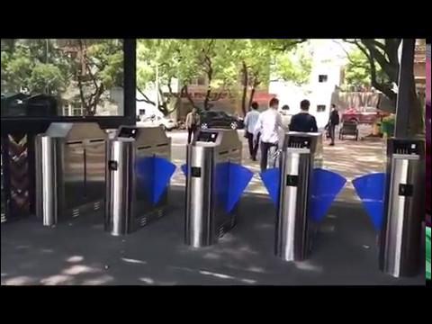 flap turnstile  installation
