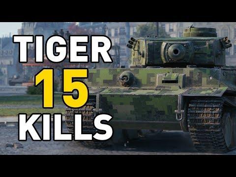 World of Tanks || 15 KILLS IN A TIGER!