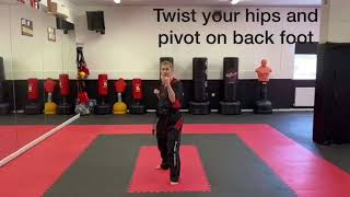 Back Hand Reverse Punch
