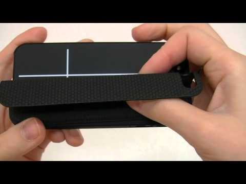 Custodia stand magnetico per iPhone 5 portatile rigida nera