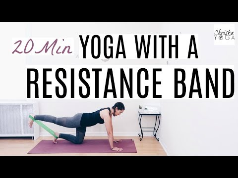 Yoga Workout With Resistance Band - 20 Min | Full Body Resistance Band Workout Routine | Chriskayoga