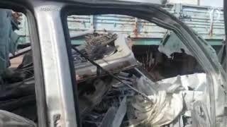 Следователи обнародовали видео осмотра разбившегося в Подмосковье тульского микроавтобуса