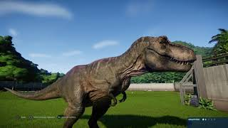 Jurassic World Evolution: Tyrannosaurus Rex Vs The Goat Army