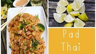 Pad-Thai mit Brokkoli & Mandel-Nuss-Tofu
