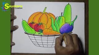 Descargar Mp3 De Simple Vegetable Basket Drawing Gratis Buentema Org