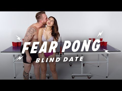 Blind Dates Play Fear Pong (Christian vs. Ren) | Fear Pong | Cut