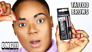I TATTOOED MY OWN BROWS (NO MICROBLADING NEEDED) MAYBELLINE TATTOO BROW PEEL OFF TINT   OMABELLETV