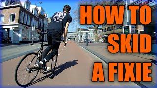 How To Skid A Fixie (Fixed Gear Bike) [TUTORIAL]