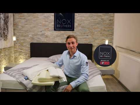 NOX 40x80 Daunenkissen | 100% Daune - für alle Schlaflagen geeignet
