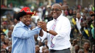 HOPES FOR NEW NAIROBI: Nairobi Deputy Governor Polycarp Igathe's speech