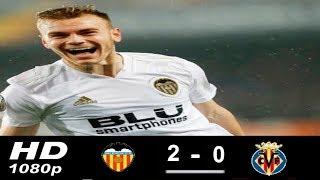 Valencia Vs  Villarreal  2-0 UEFA Europa League 18/04/2019