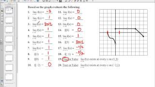 Limit Worksheet #2 Problems 1 30
