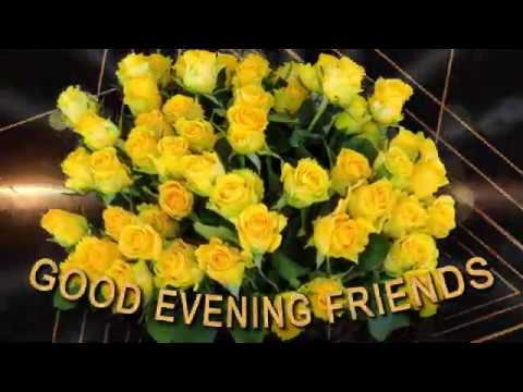 💜Good evening friends💛#WhatsApp #Wishes #Quotes #Message #Greetings