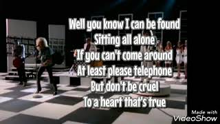 Cheap Trick - Don't be cruel (Lyrics)