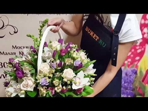 Корзина цветов «Мальвина»