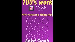 How to hack | cm security | 360 security | applock | in few seconds |
