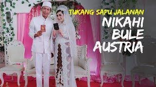 Pernikahan Viral, Tukang Sapu Jalanan di Jakarta Nikahi Bule Asal Austria, Berawal dari Hobi Smule