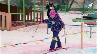 В Великом Новгороде проходят зимние Олимпийские игры среди команд детских садов