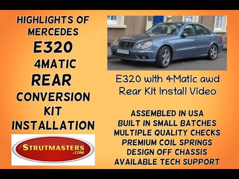 Instructions for a Rear Hydraulic Suspension Conversion on a Mercedes E320 4-M by Strutmasters