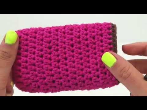 Handyhülle häkeln | Handy Case für Samsung oder iPhone | Coole pinke Hülle